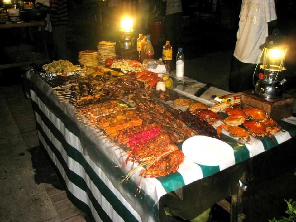 Seafood Stall at Forodhani Gardens